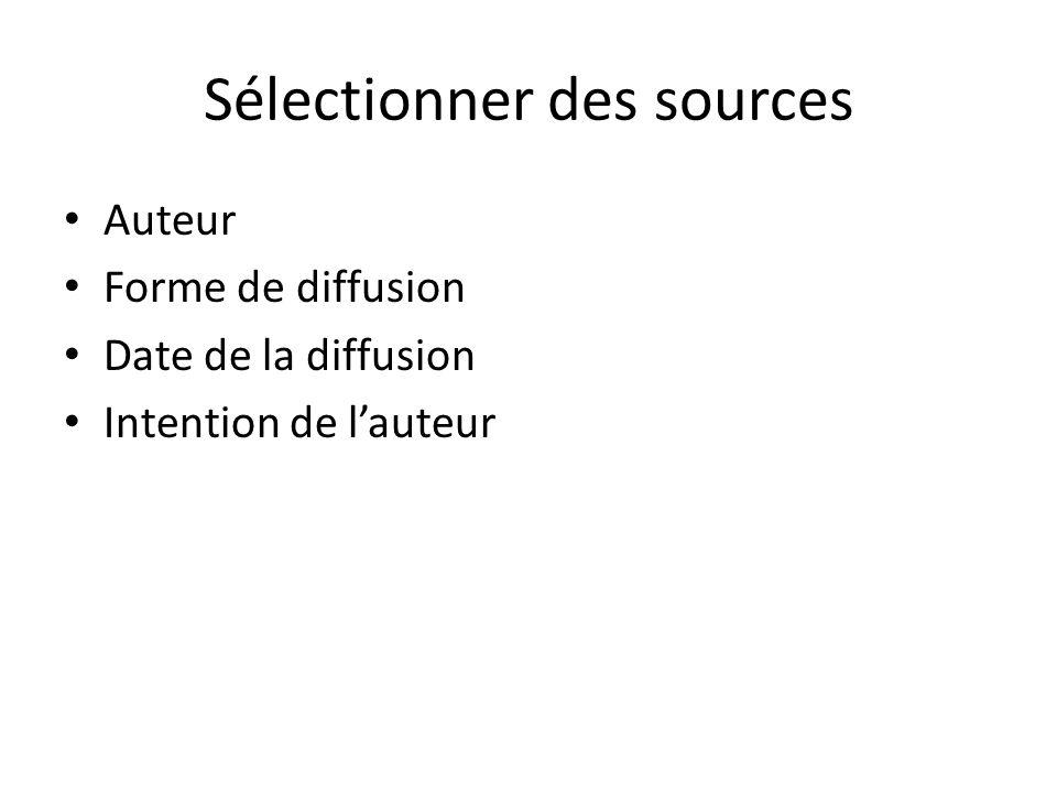 Sélectionner des sources