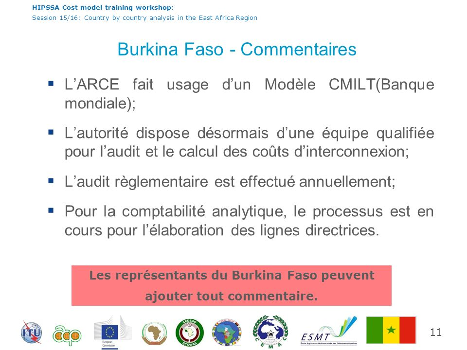 Burkina Faso - Commentaires