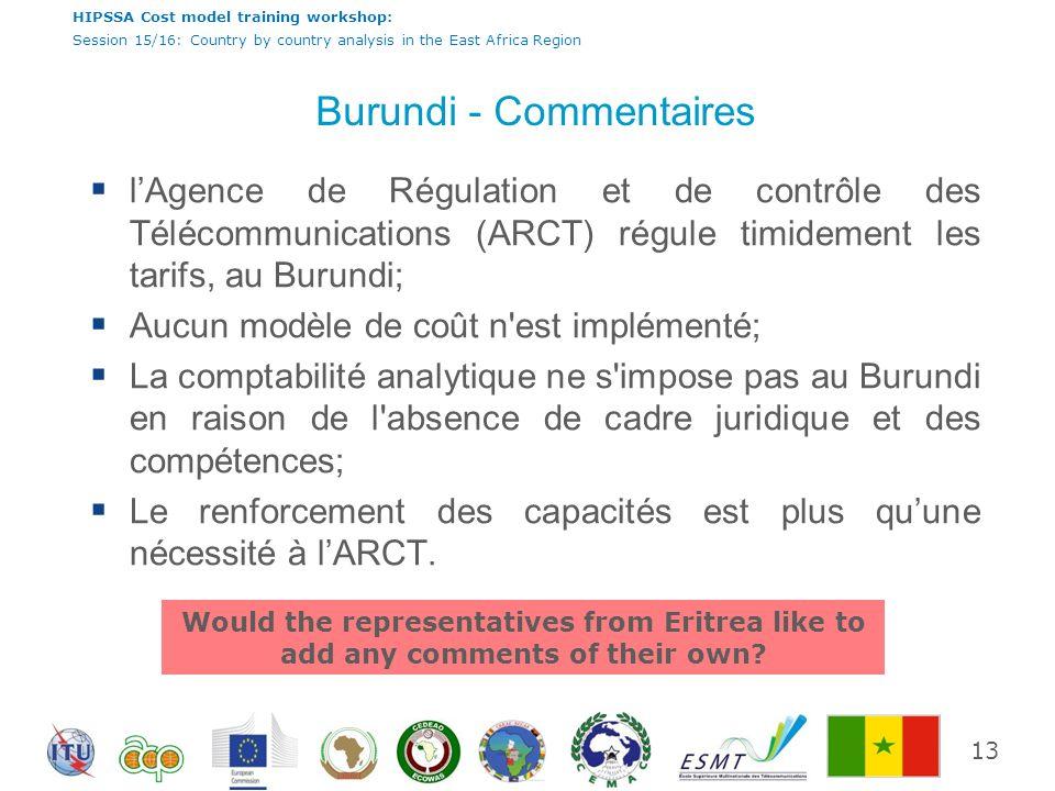Burundi - Commentaires