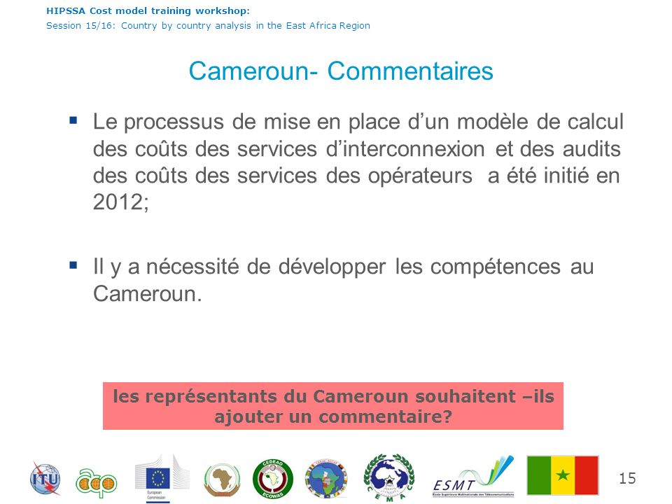Cameroun- Commentaires