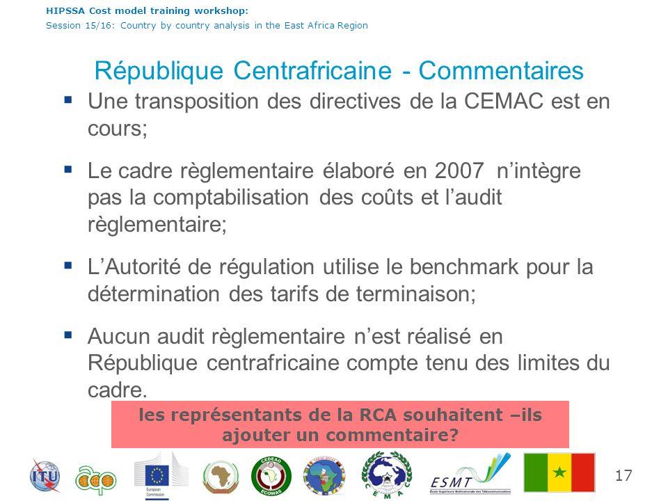 République Centrafricaine - Commentaires