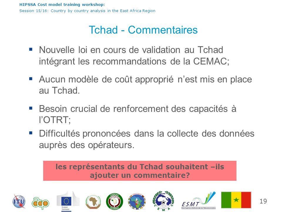 les représentants du Tchad souhaitent –ils ajouter un commentaire