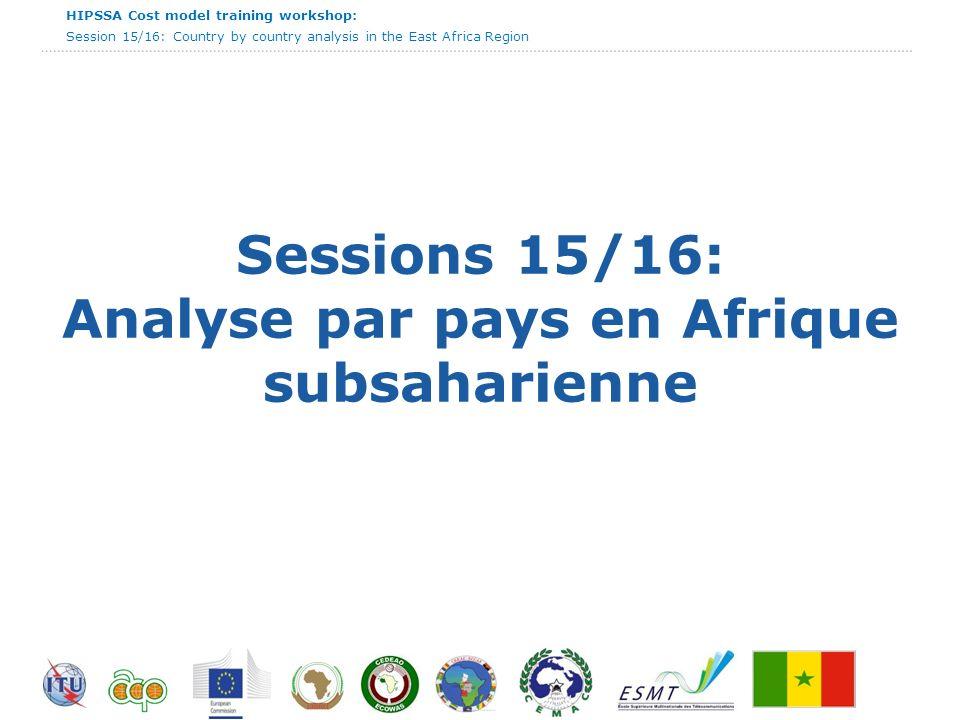 Sessions 15/16: Analyse par pays en Afrique subsaharienne