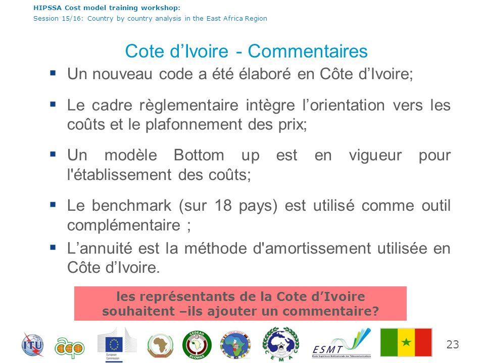 Cote d'Ivoire - Commentaires
