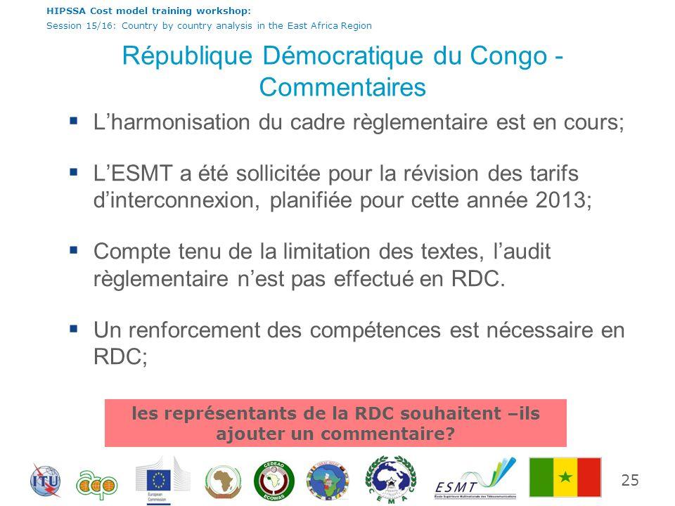 République Démocratique du Congo - Commentaires