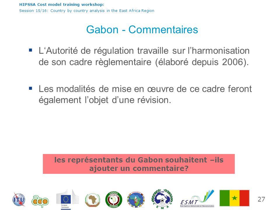 les représentants du Gabon souhaitent –ils ajouter un commentaire