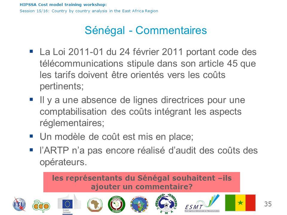 Sénégal - Commentaires