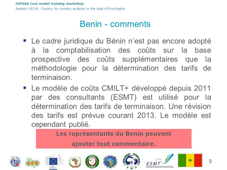 Les représentants du Benin peuvent ajouter tout commentaire.