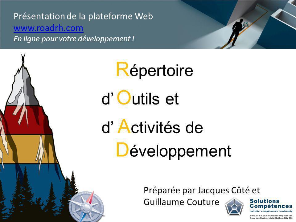 Répertoire d' Outils et d' Activités de Développement