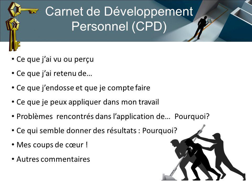 Carnet de Développement Personnel (CPD)