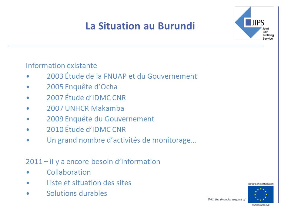 La Situation au Burundi