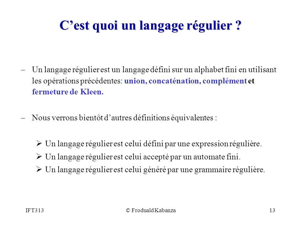 C'est quoi un langage régulier