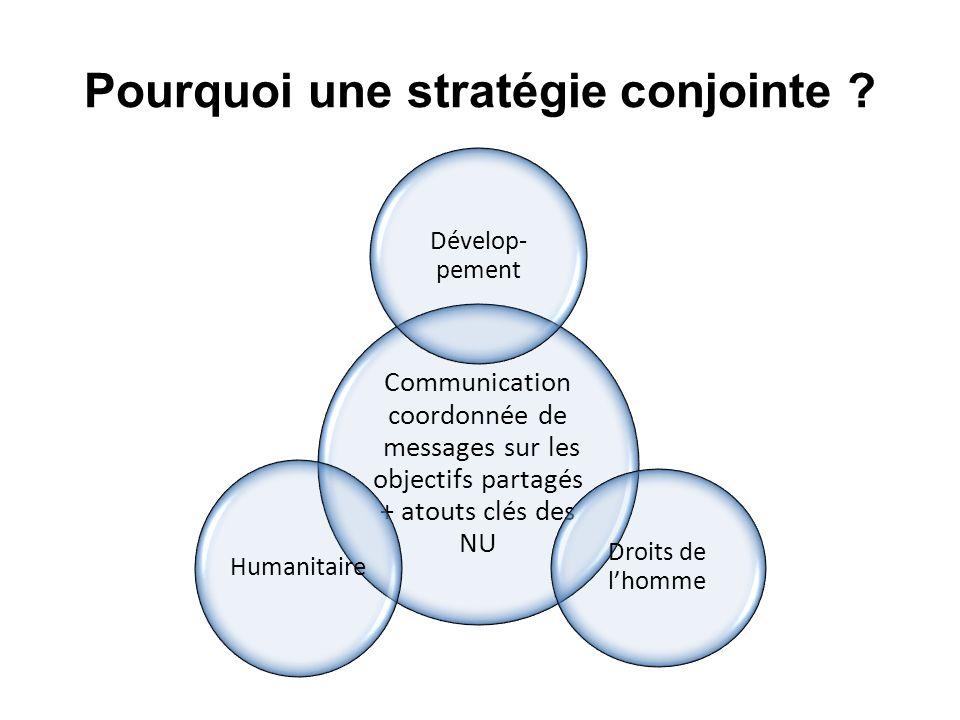 Pourquoi une stratégie conjointe