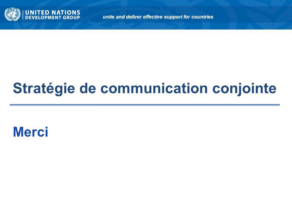 Stratégie de communication conjointe