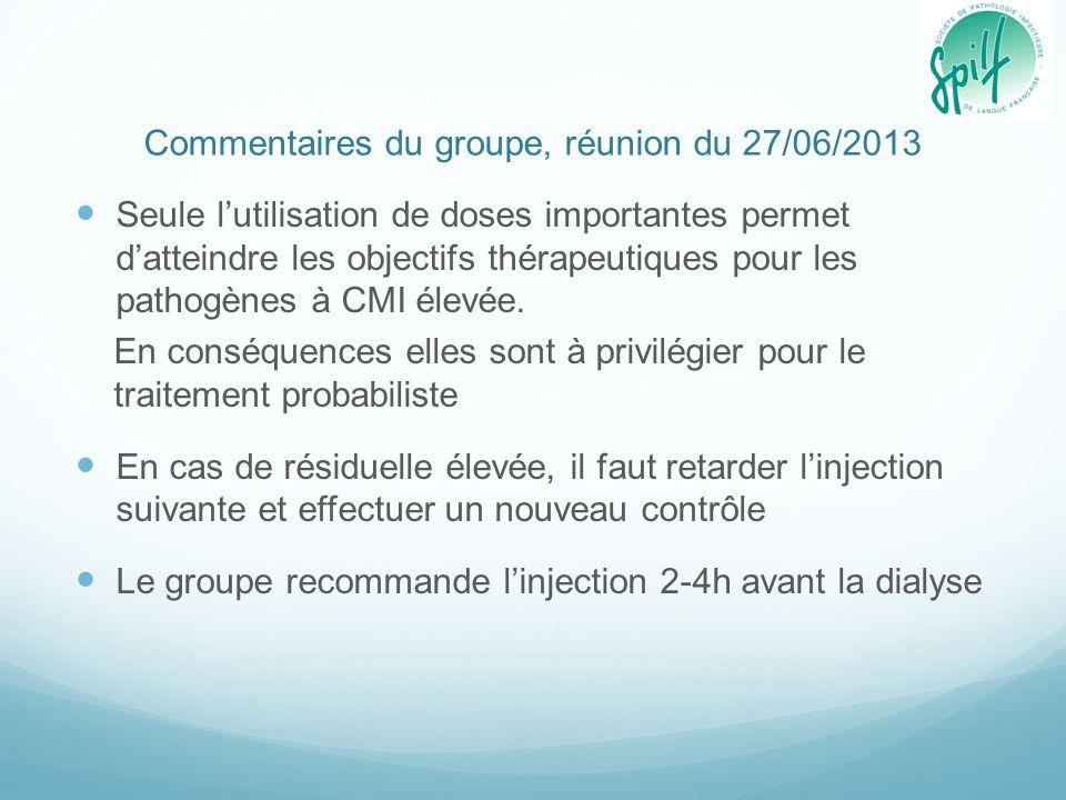 Commentaires du groupe, réunion du 27/06/2013