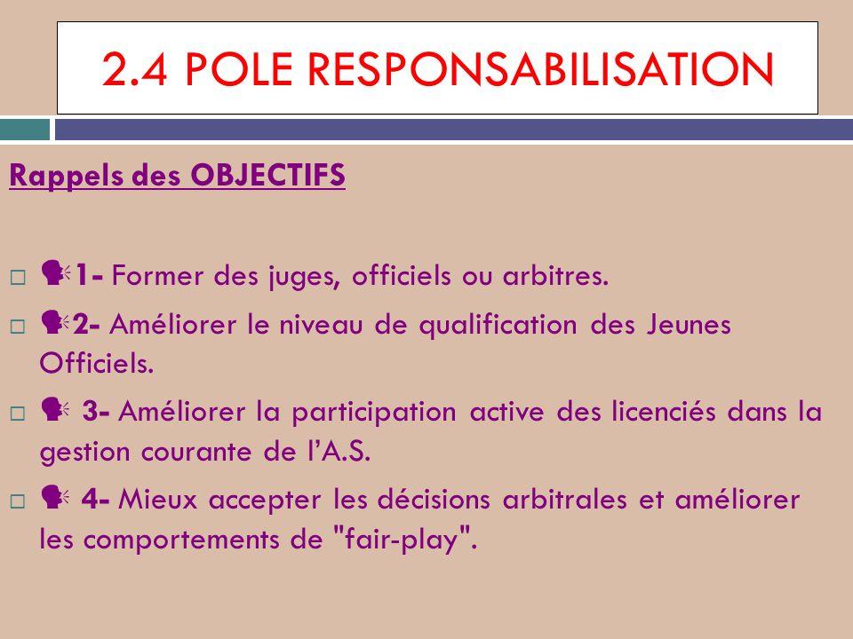 2.4 POLE RESPONSABILISATION