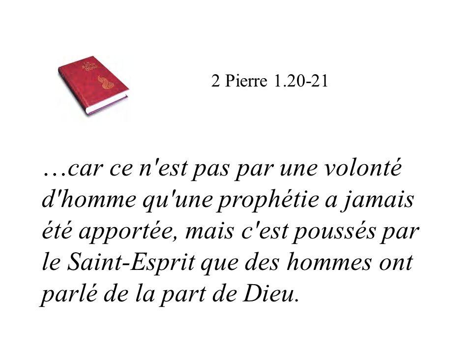 2 Pierre 1.20-21
