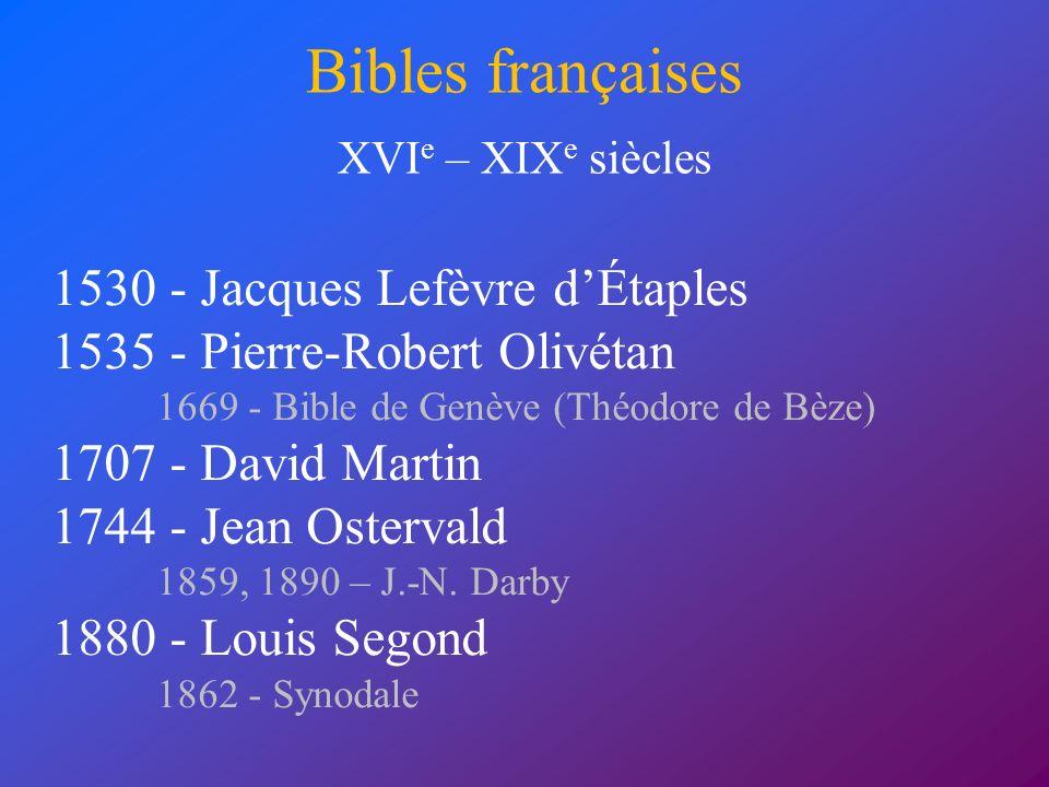 Bibles françaises 1530 - Jacques Lefèvre d'Étaples