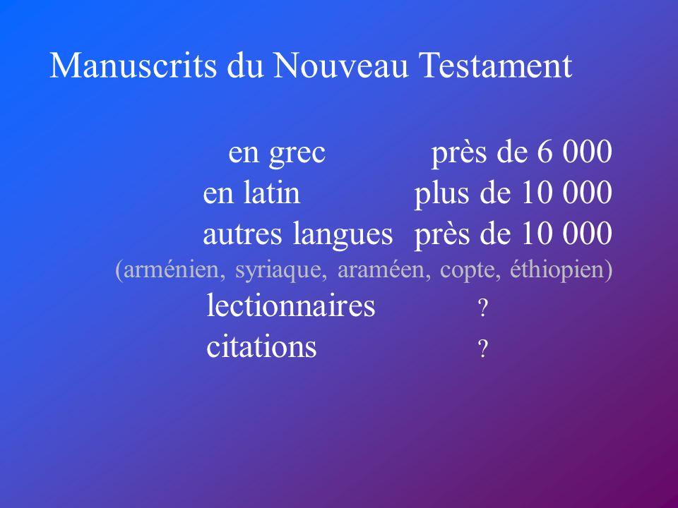 Manuscrits du Nouveau Testament