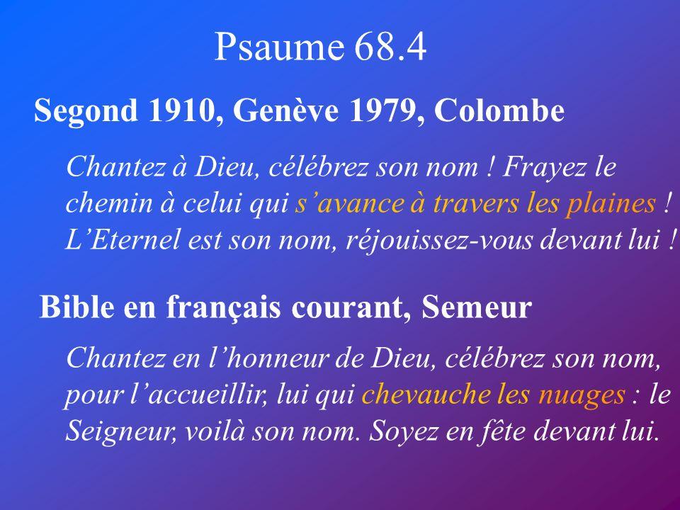 Psaume 68.4 Segond 1910, Genève 1979, Colombe
