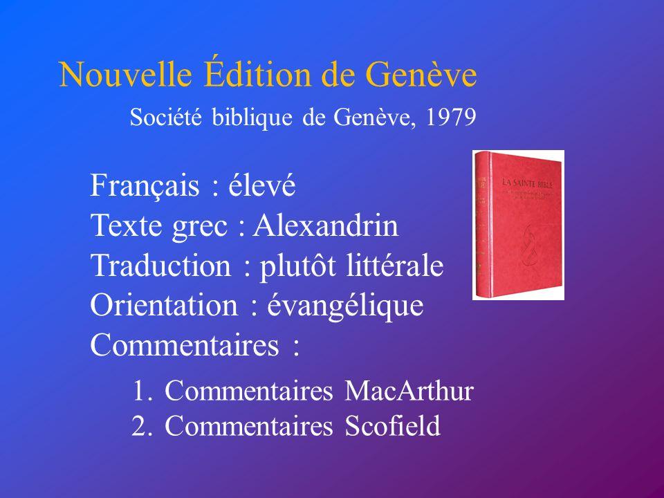 Nouvelle Édition de Genève