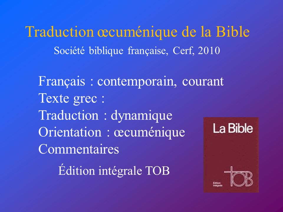 Traduction œcuménique de la Bible