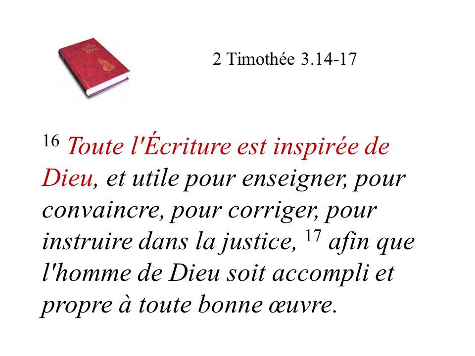 2 Timothée 3.14-17