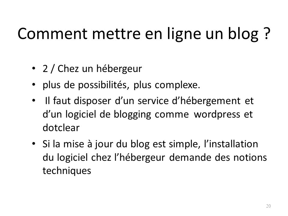 Comment mettre en ligne un blog