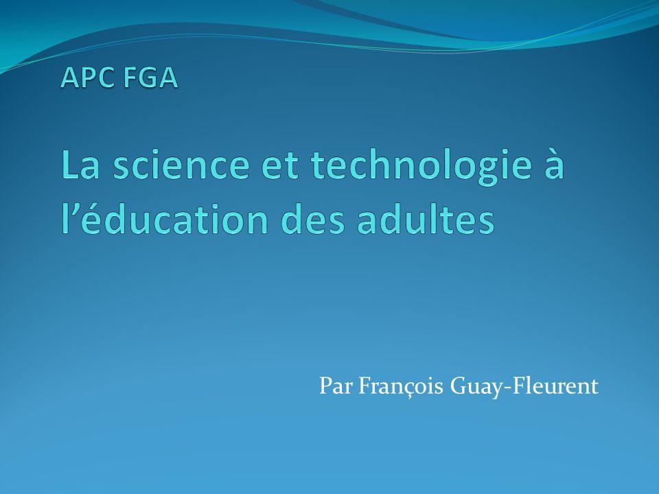 APC FGA La science et technologie à l'éducation des adultes