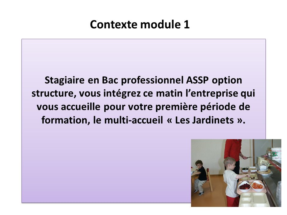 Contexte module 1