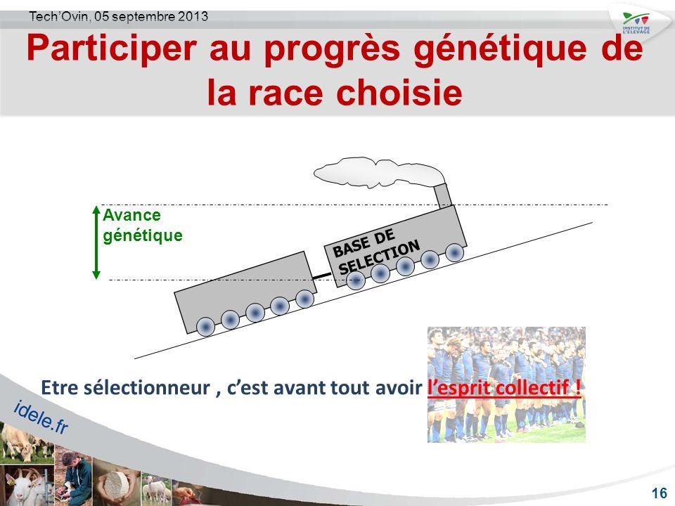 Participer au progrès génétique de la race choisie