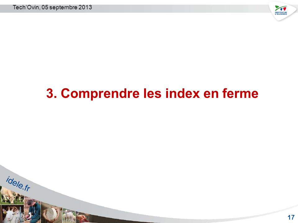 3. Comprendre les index en ferme