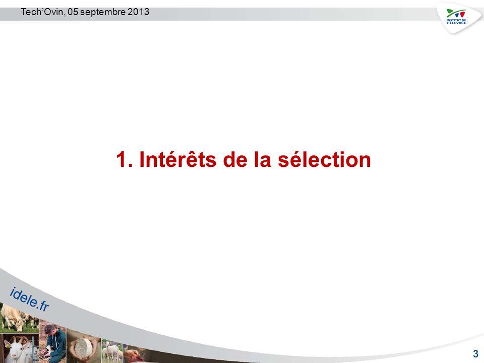 1. Intérêts de la sélection