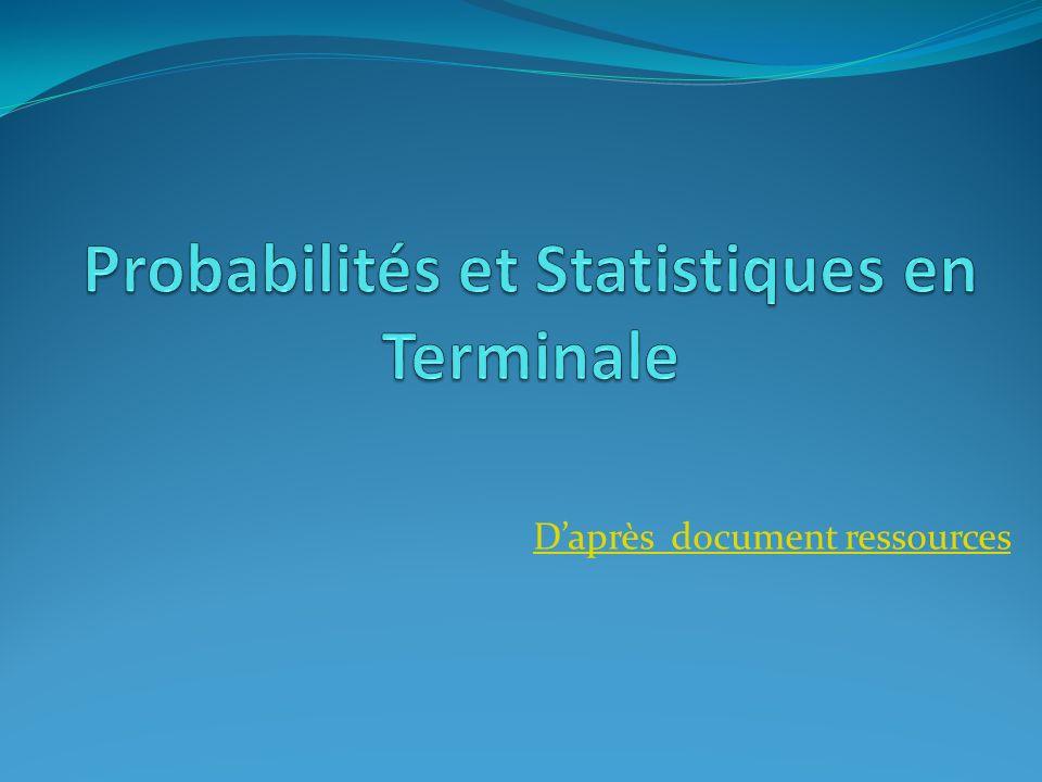 Probabilités et Statistiques en Terminale