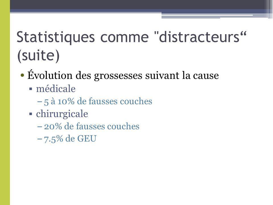 Statistiques comme distracteurs (suite)