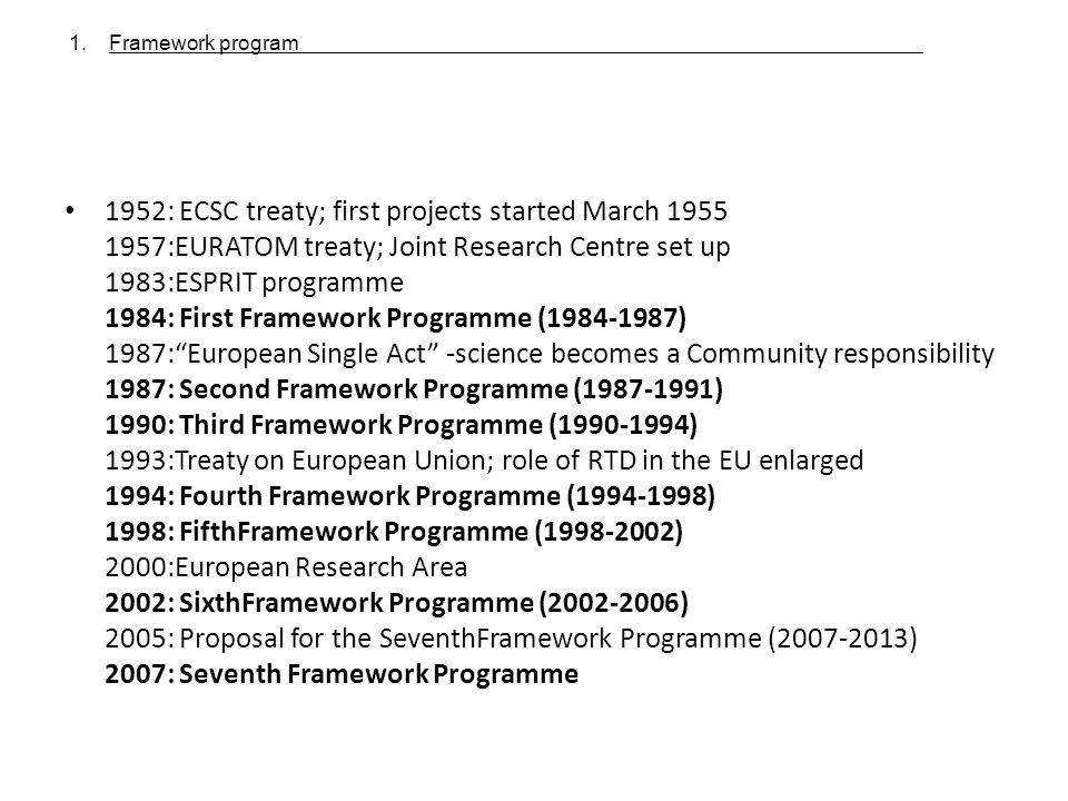 Framework program