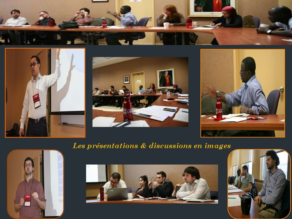 Les présentations & discussions en images