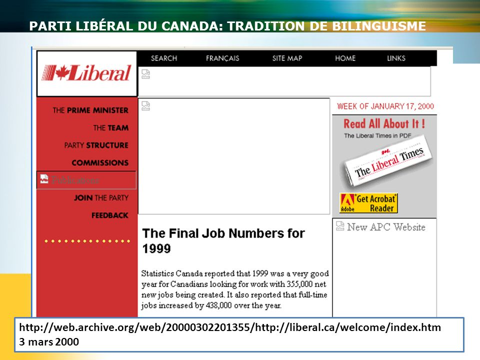 Parti libéral du Canada: tradition de bilinguisme