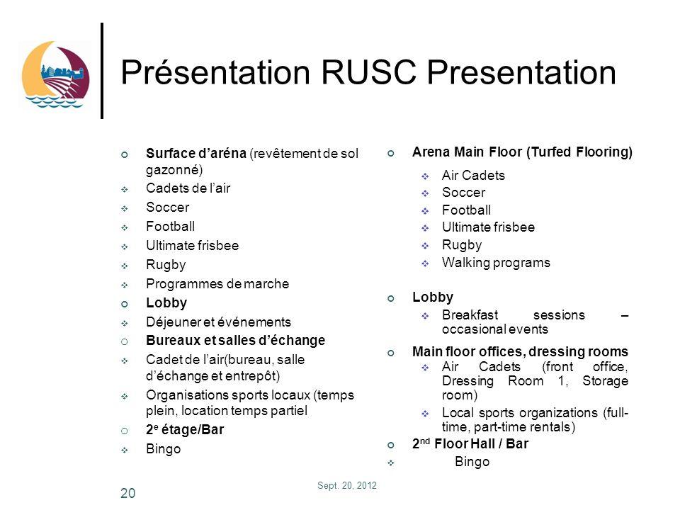 Présentation RUSC Presentation