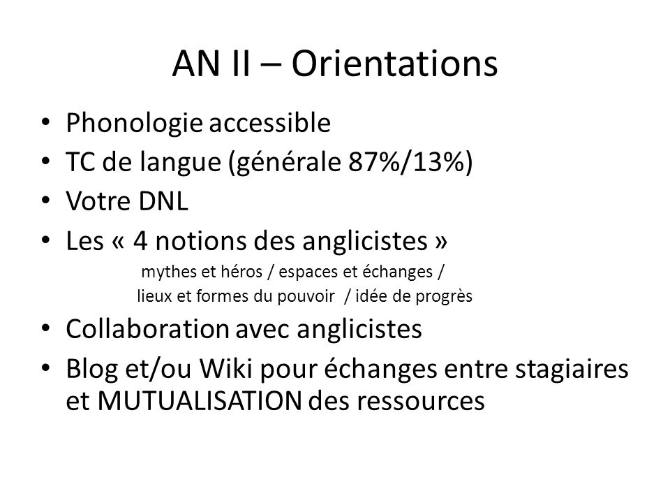 AN II – Orientations Phonologie accessible