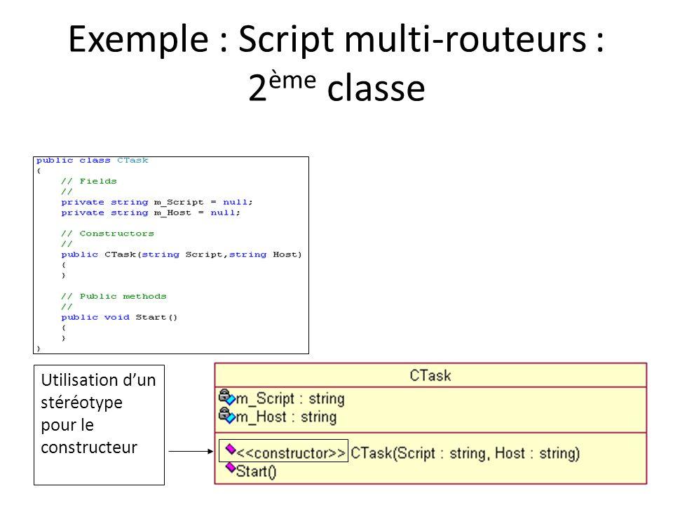 Exemple : Script multi-routeurs : 2ème classe