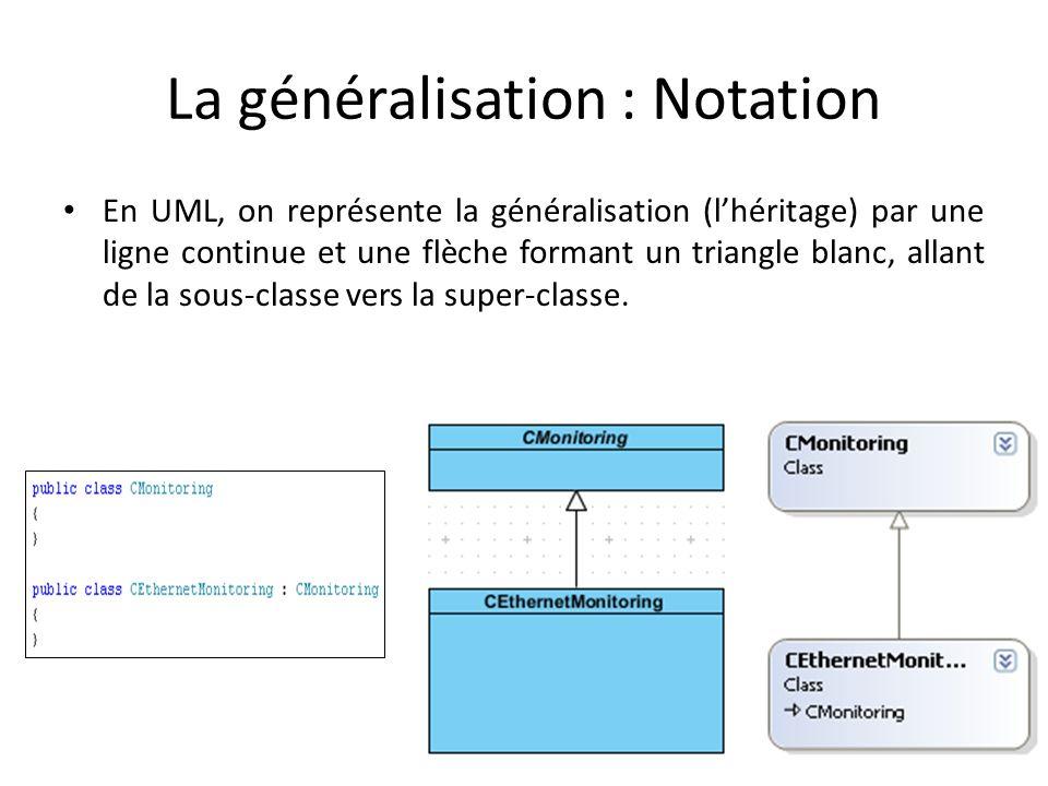 La généralisation : Notation