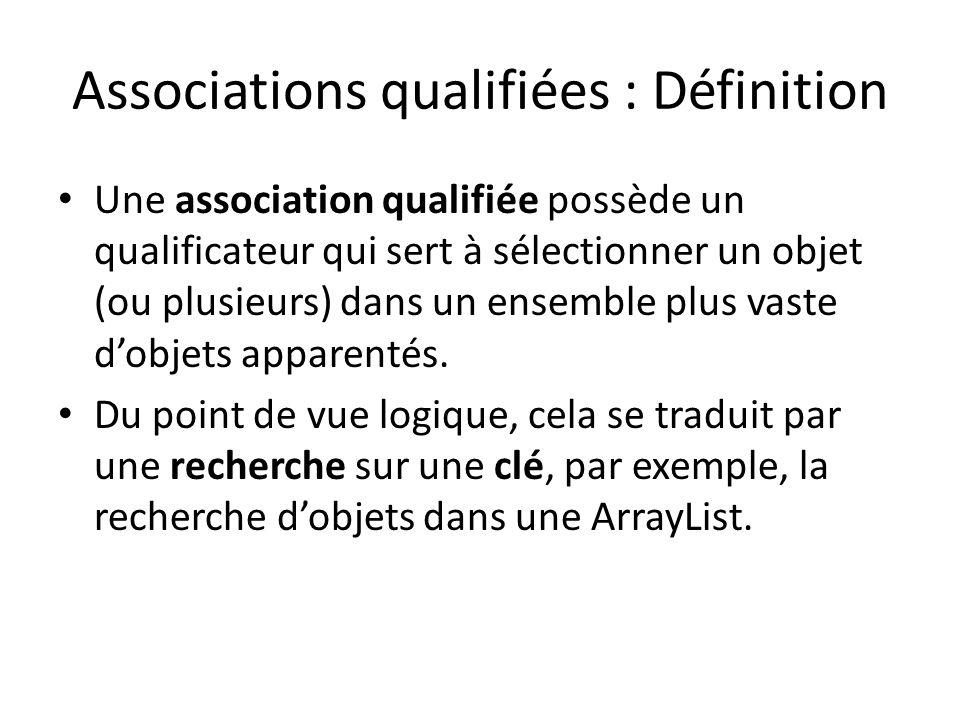 Associations qualifiées : Définition