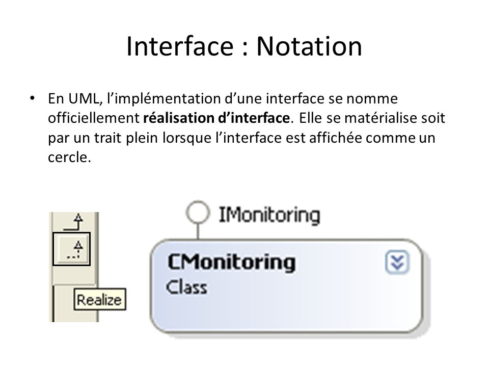 Interface : Notation
