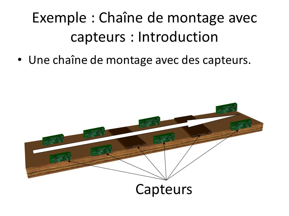 Exemple : Chaîne de montage avec capteurs : Introduction