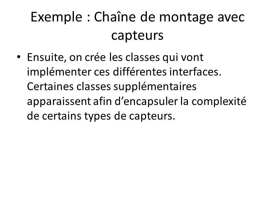 Exemple : Chaîne de montage avec capteurs
