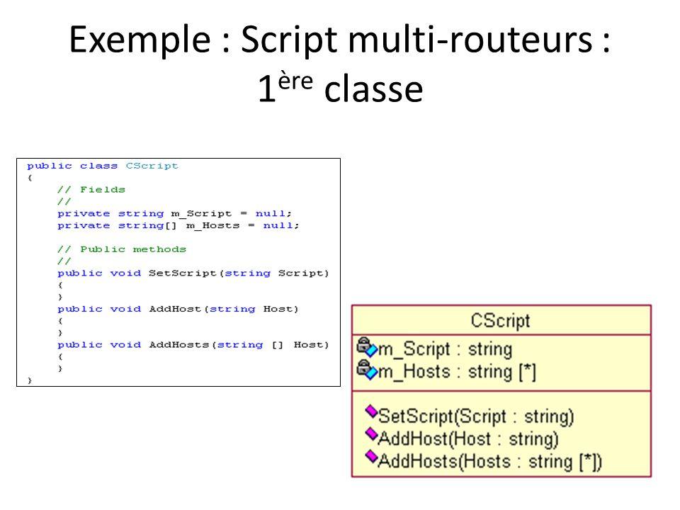 Exemple : Script multi-routeurs : 1ère classe