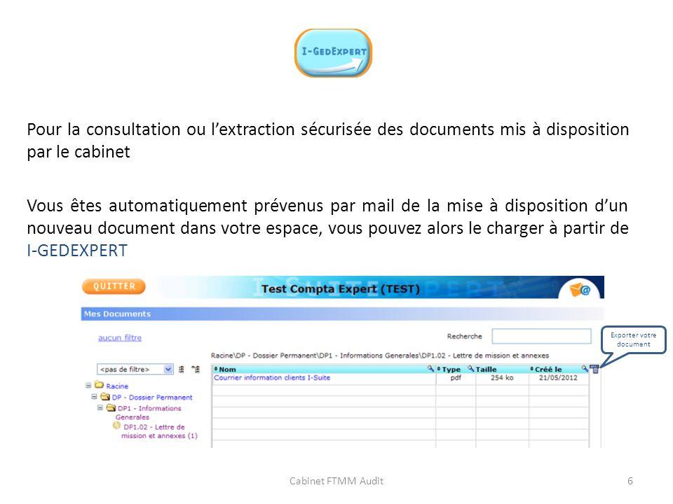 Exporter votre document