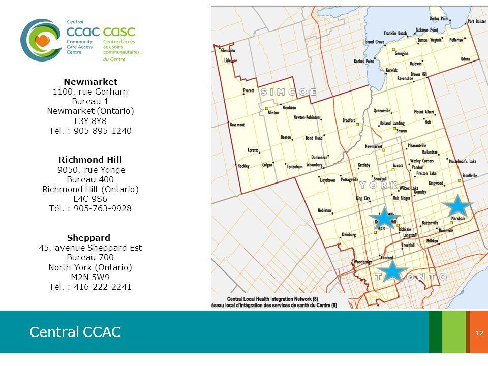 Newmarket 1100, rue Gorham Bureau 1 Newmarket (Ontario)