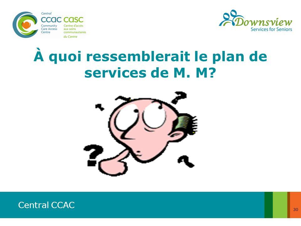 À quoi ressemblerait le plan de services de M. M